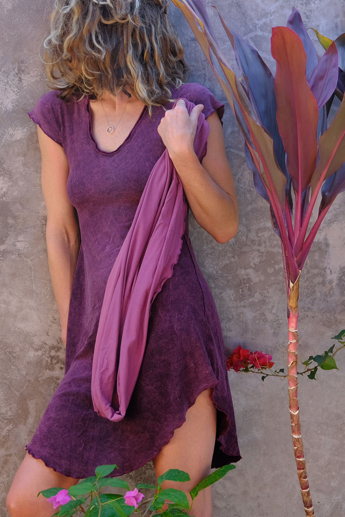 angelrox® pink mineral suger belle tunic dress with orchid loop