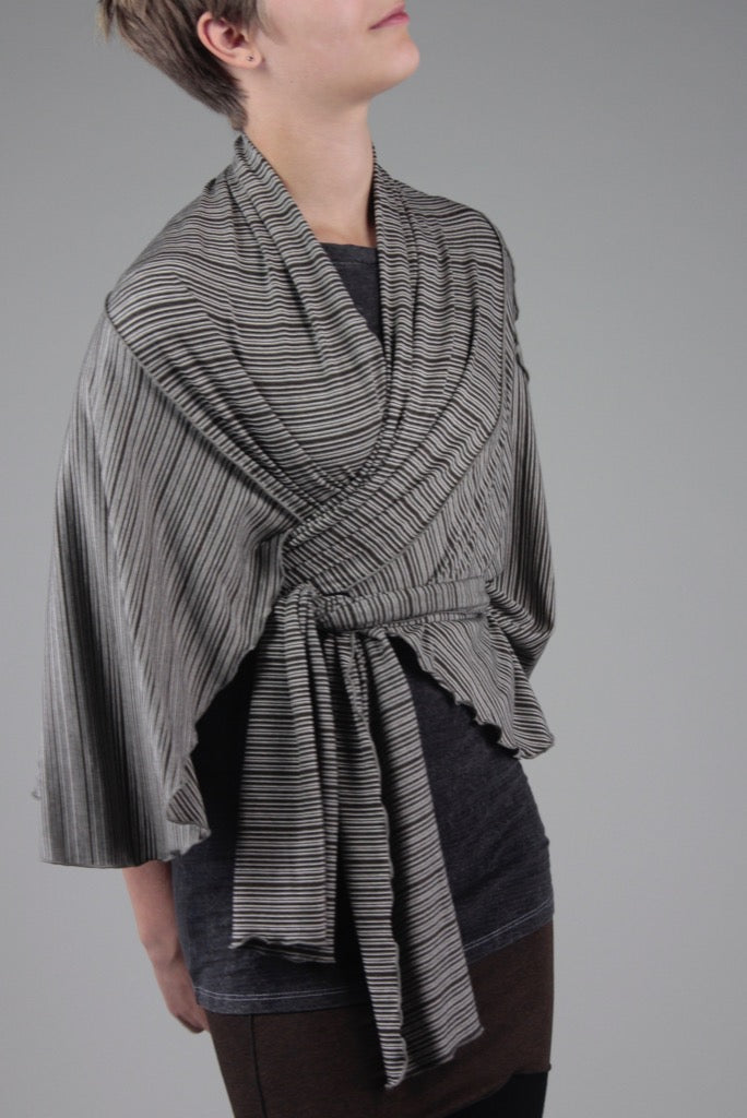 angelrox® earth girly wrap styled as kimono