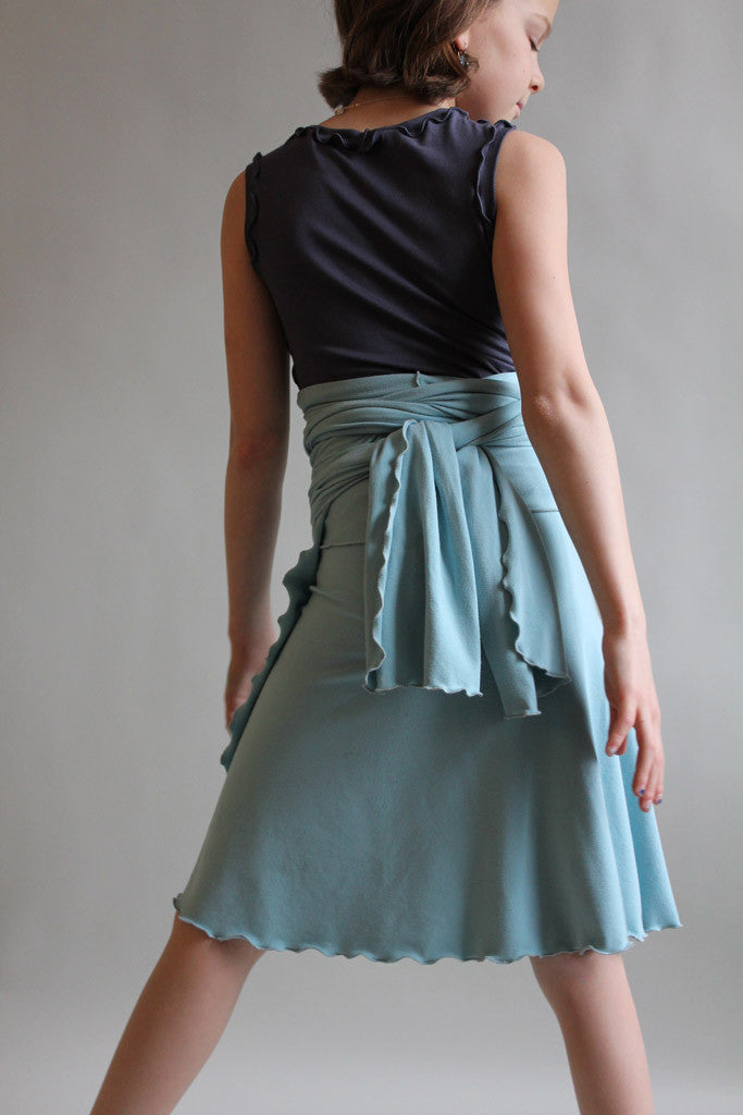 angelrox® sky girly wrap styled as skirt