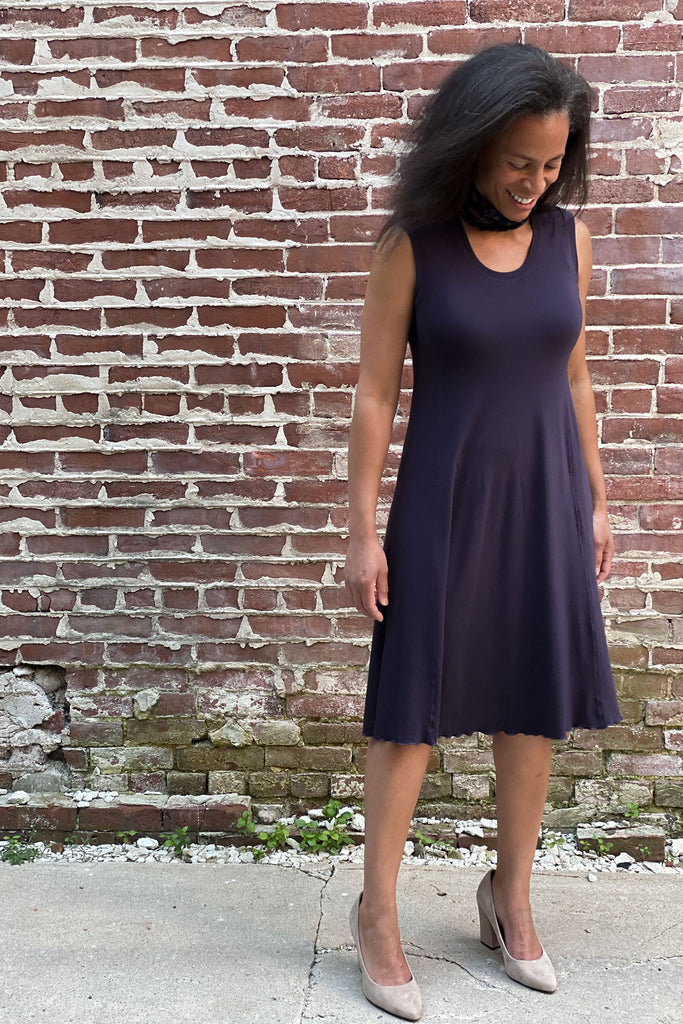 indigo lady glow sleeveless dress