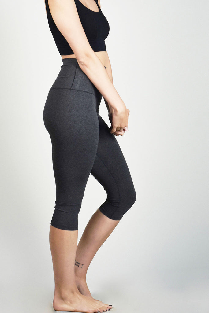 charcoal bamboo capri base