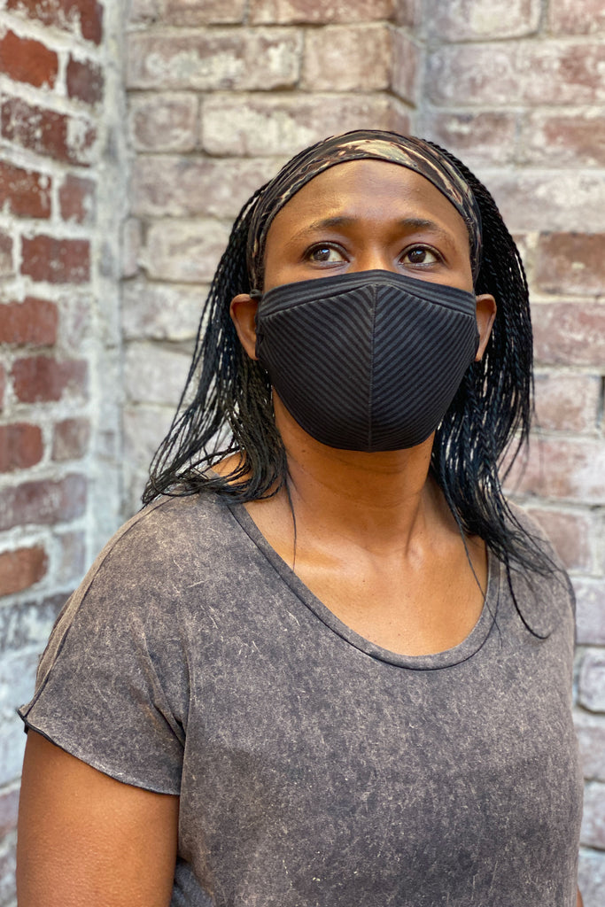 subtle black stripe hush mask