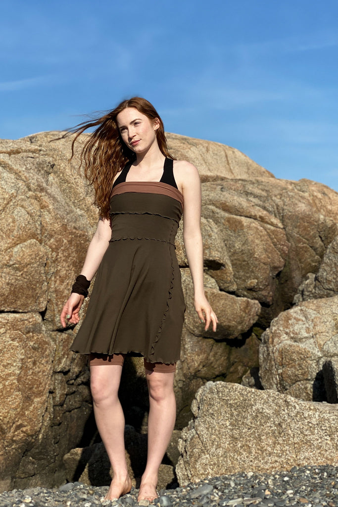 olive flirt as a dress with our cedar hiker