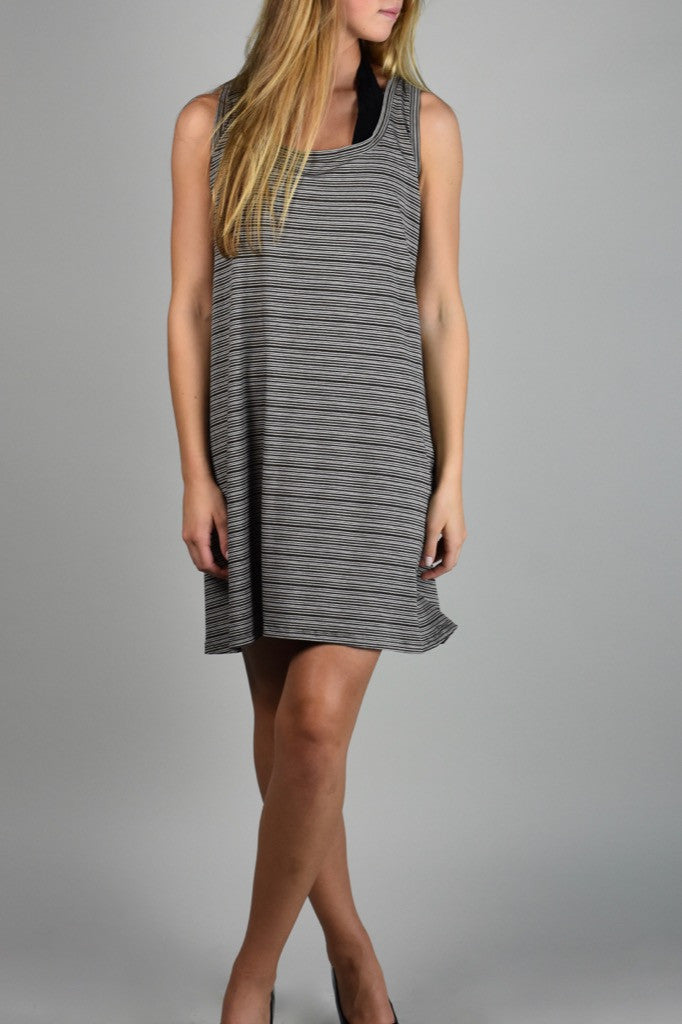earth stripe suger shift dress