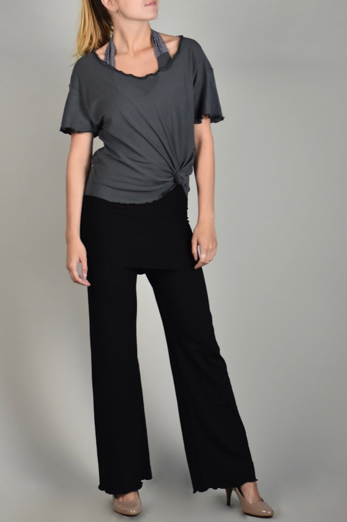 black trouser with iron sweet t