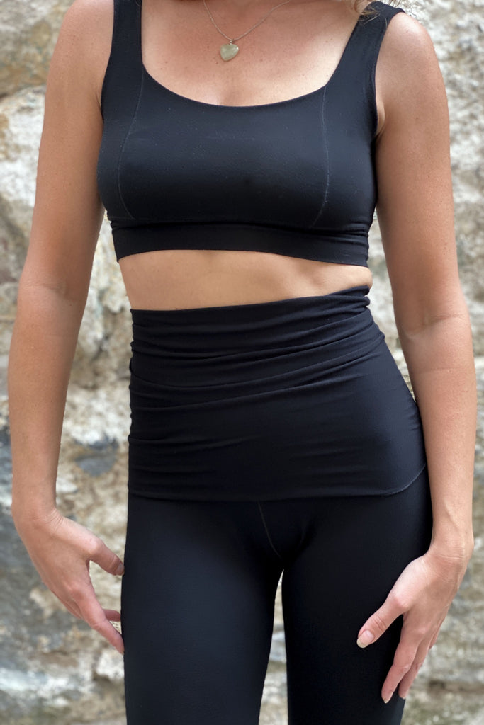 black full support comforts paired with climber convertible legging