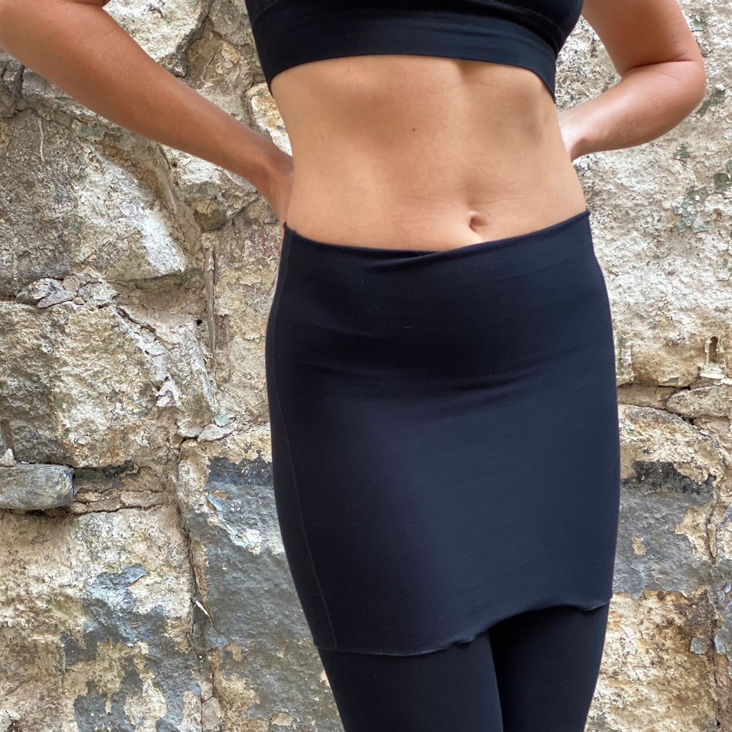 black climber as a skirt and legging pair