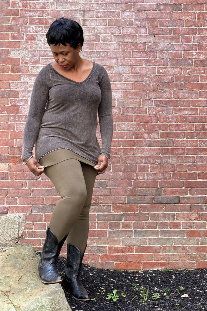olive climber legging with the mineral vitality top