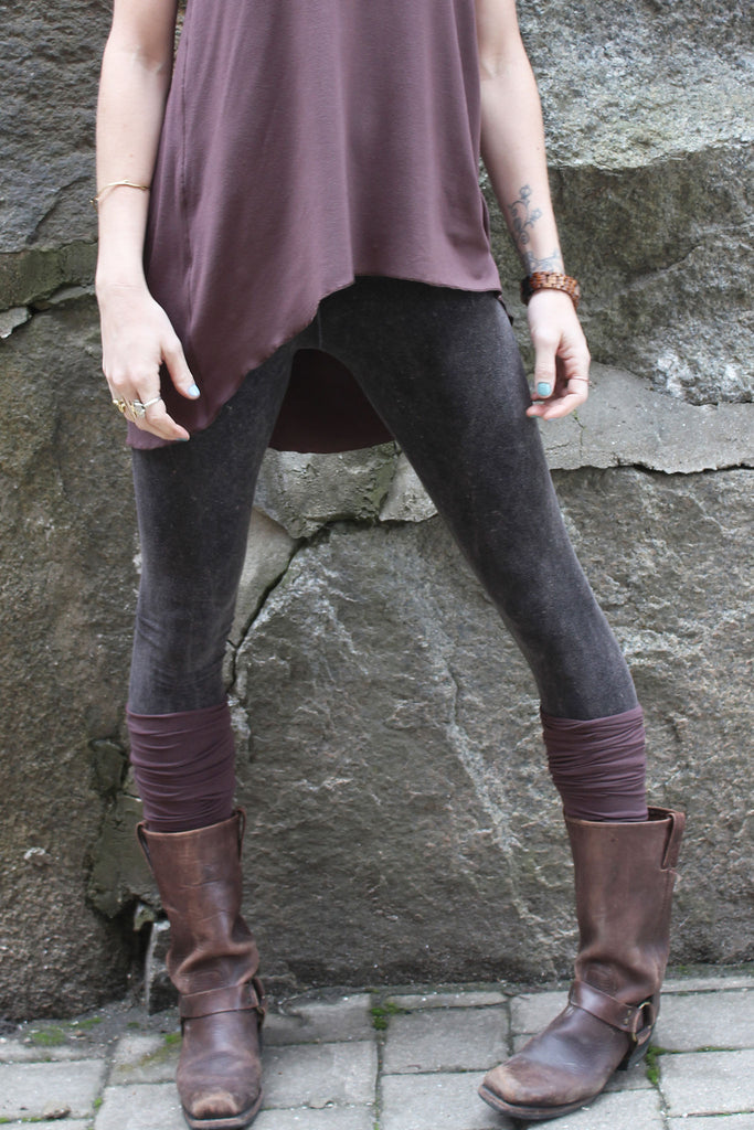 mineral base comfort leggings pair perfectly with our stocking leg warmers