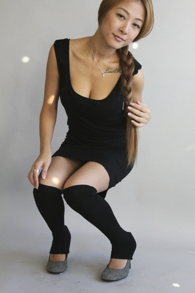 black wifey with our matching stockings