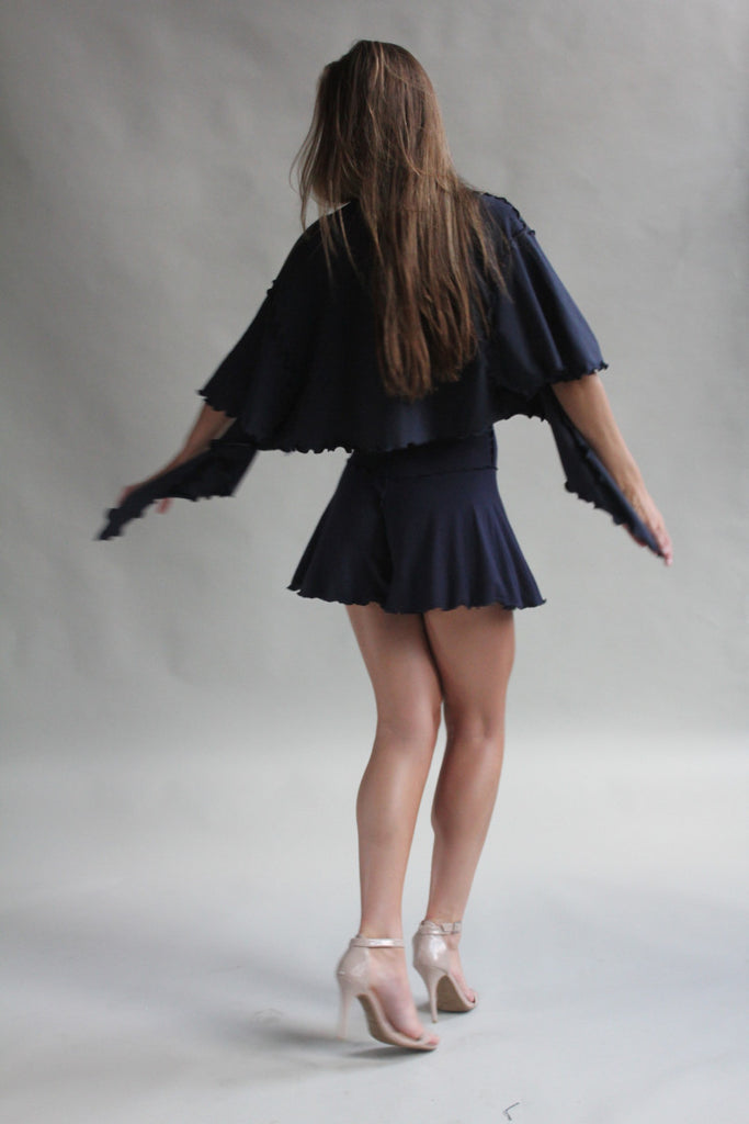 navy flutter with matching romper