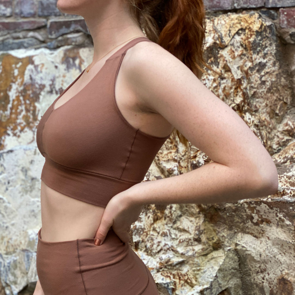 suger® balance bra + base legging in cedar