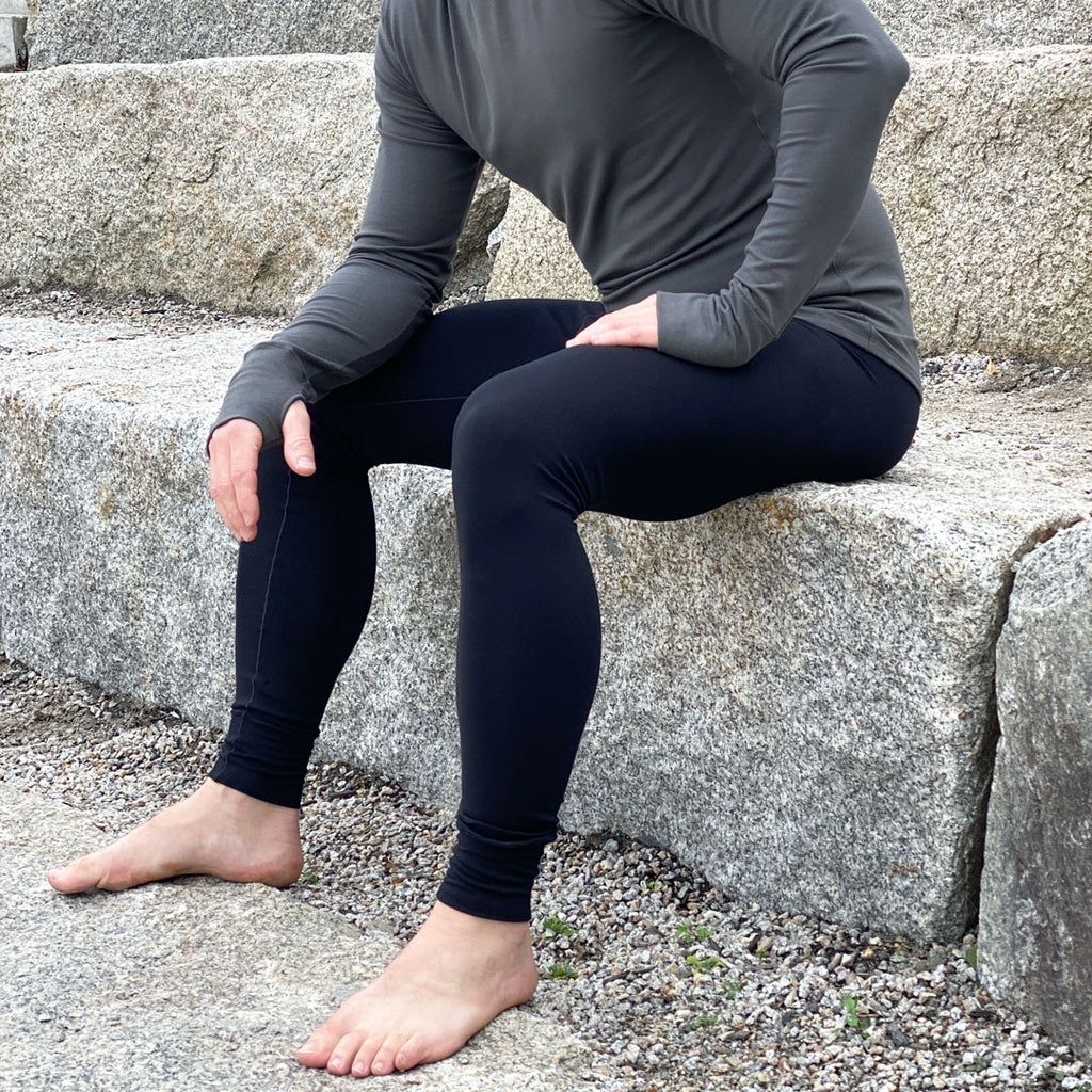 black johnny long underwear + ore valor crew neck