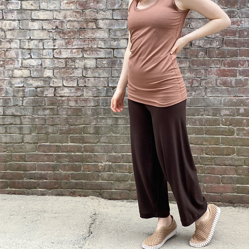 bloom pant in peat bamboo