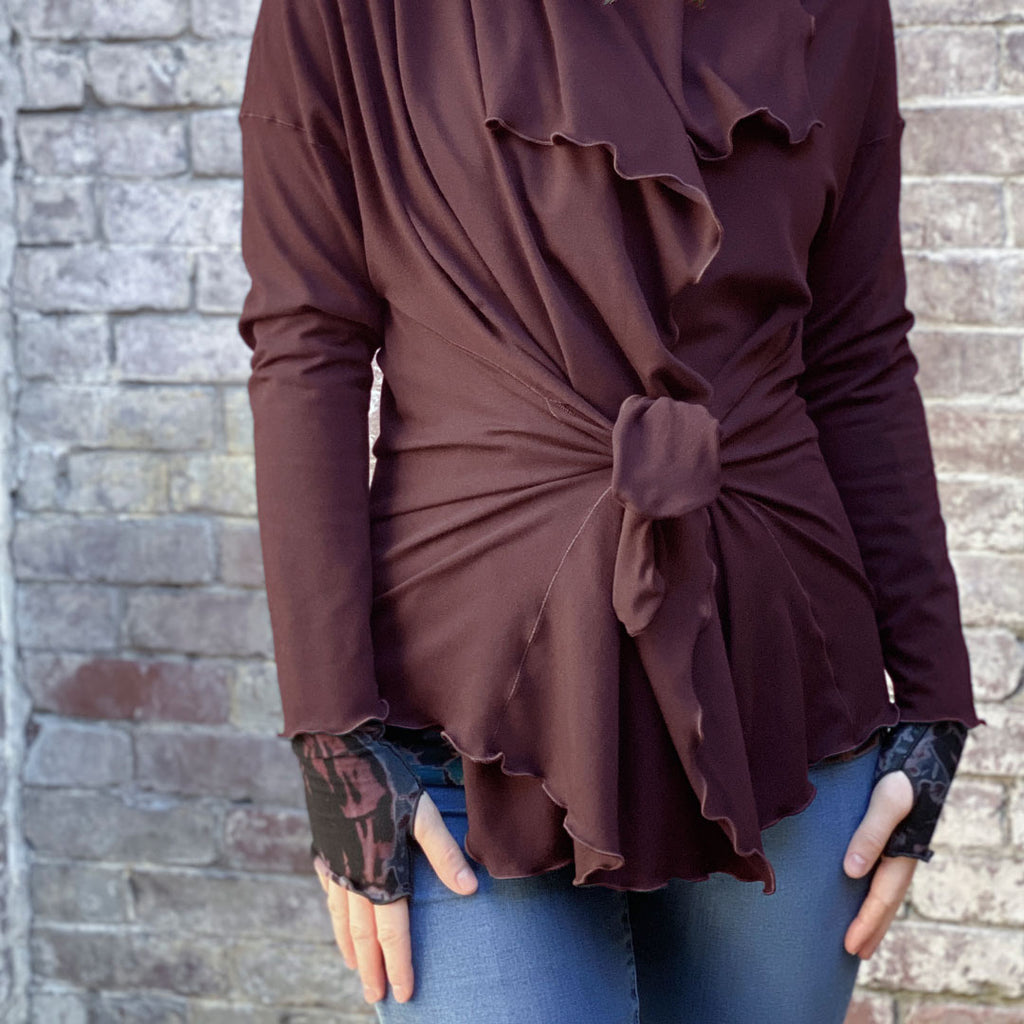 bamboo river jacket in wine