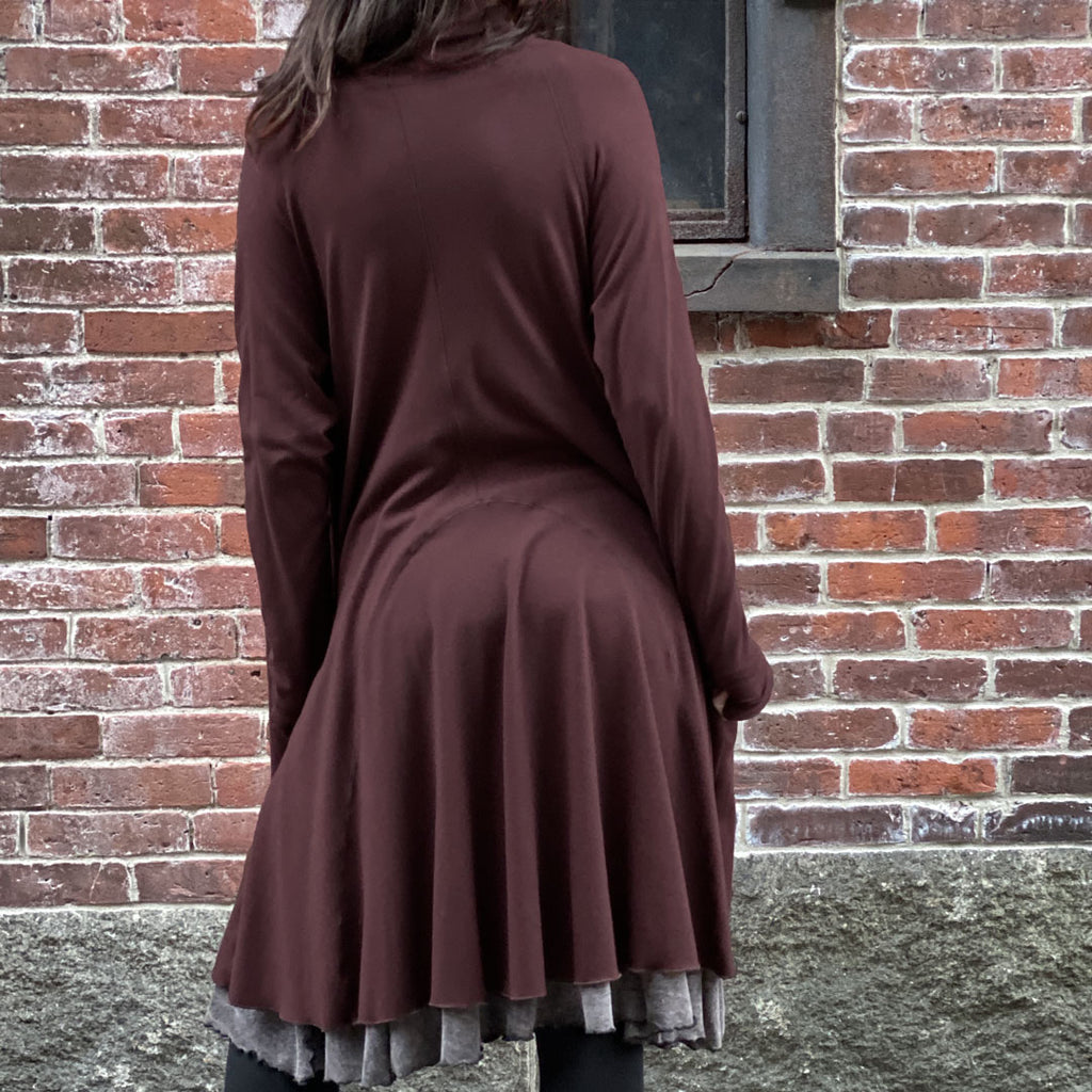 riding coat in wine