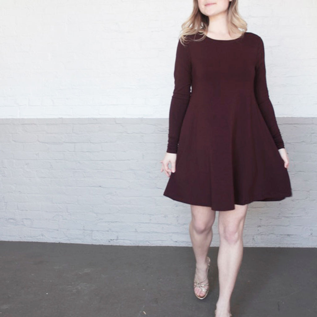 stella dress in wine