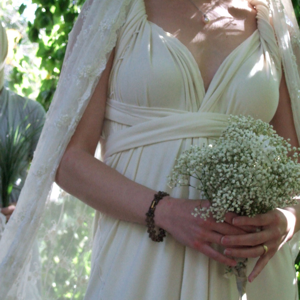 the wrap as a beautiful wedding dress
