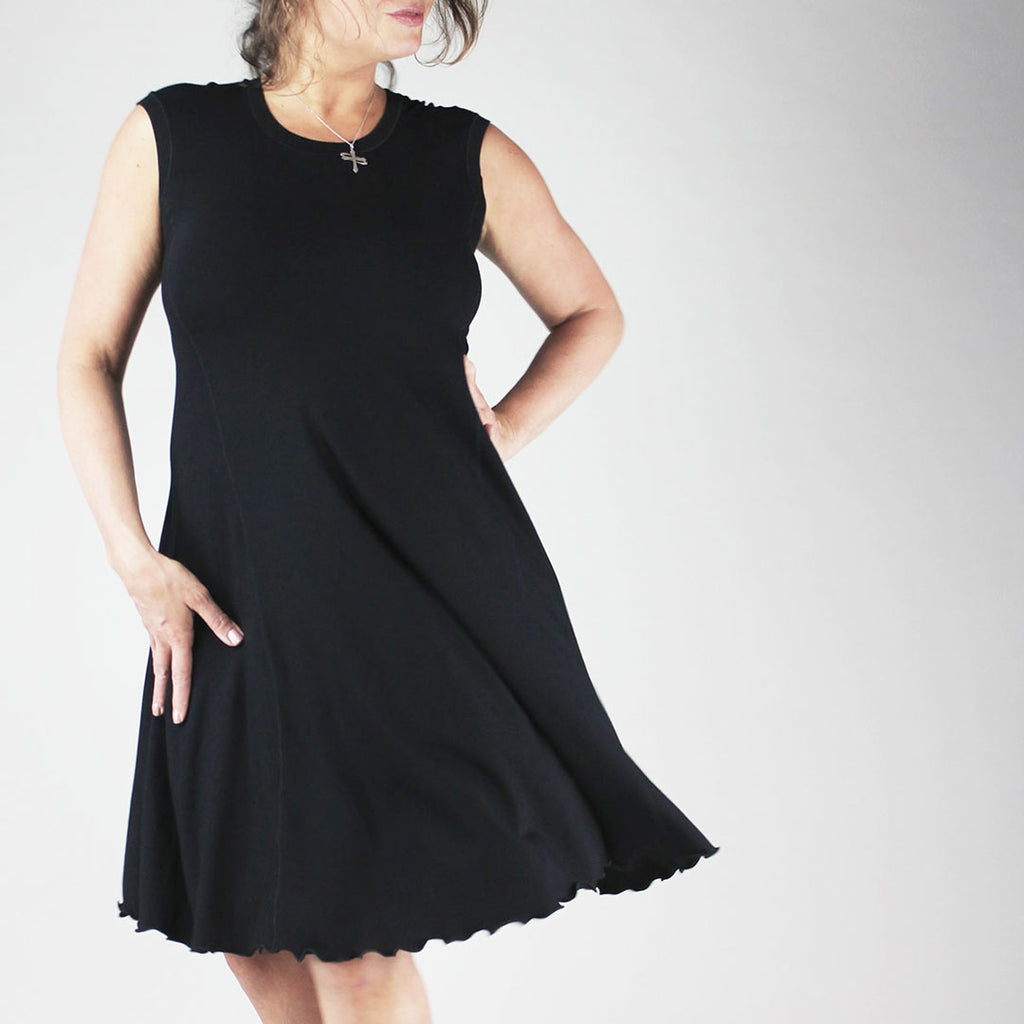black bamboo lady glow dress