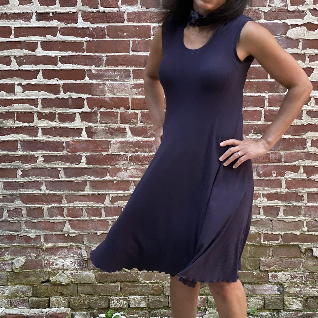 angelrox® indigo lady glow dress