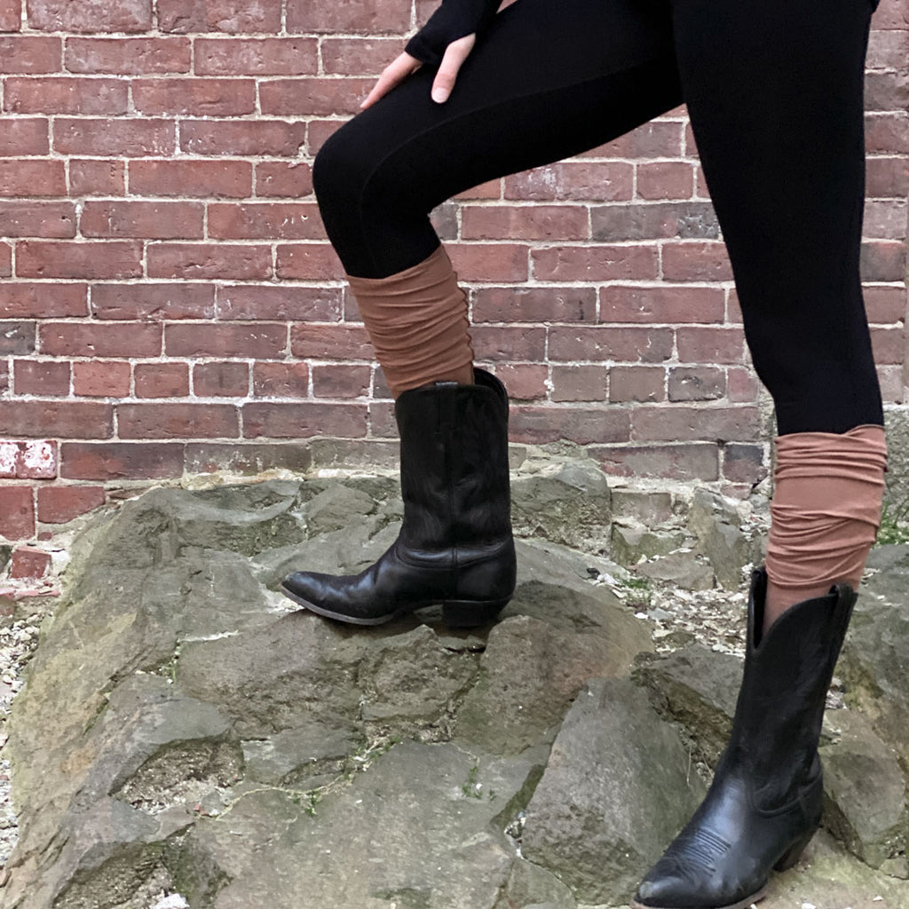 cedar stockings with our black base legging
