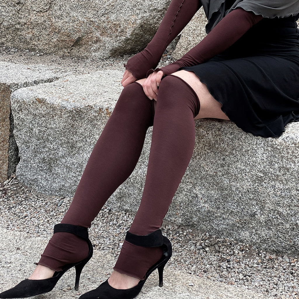 wine bamboo stockings