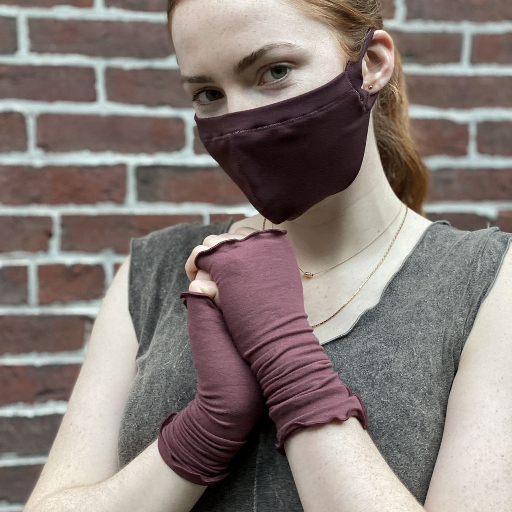 lush aria sleeves with our wine hush mask