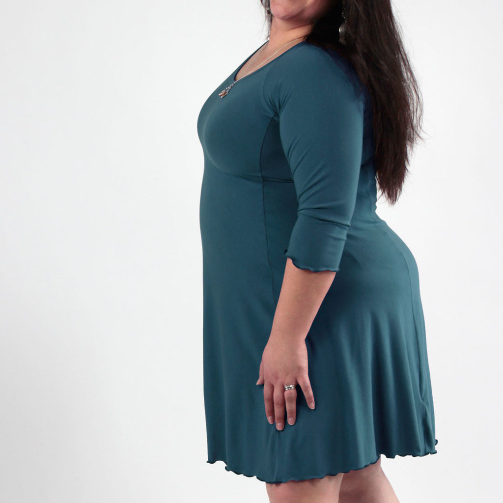 cozy lagoon bamboo in the shine half sleeve dress