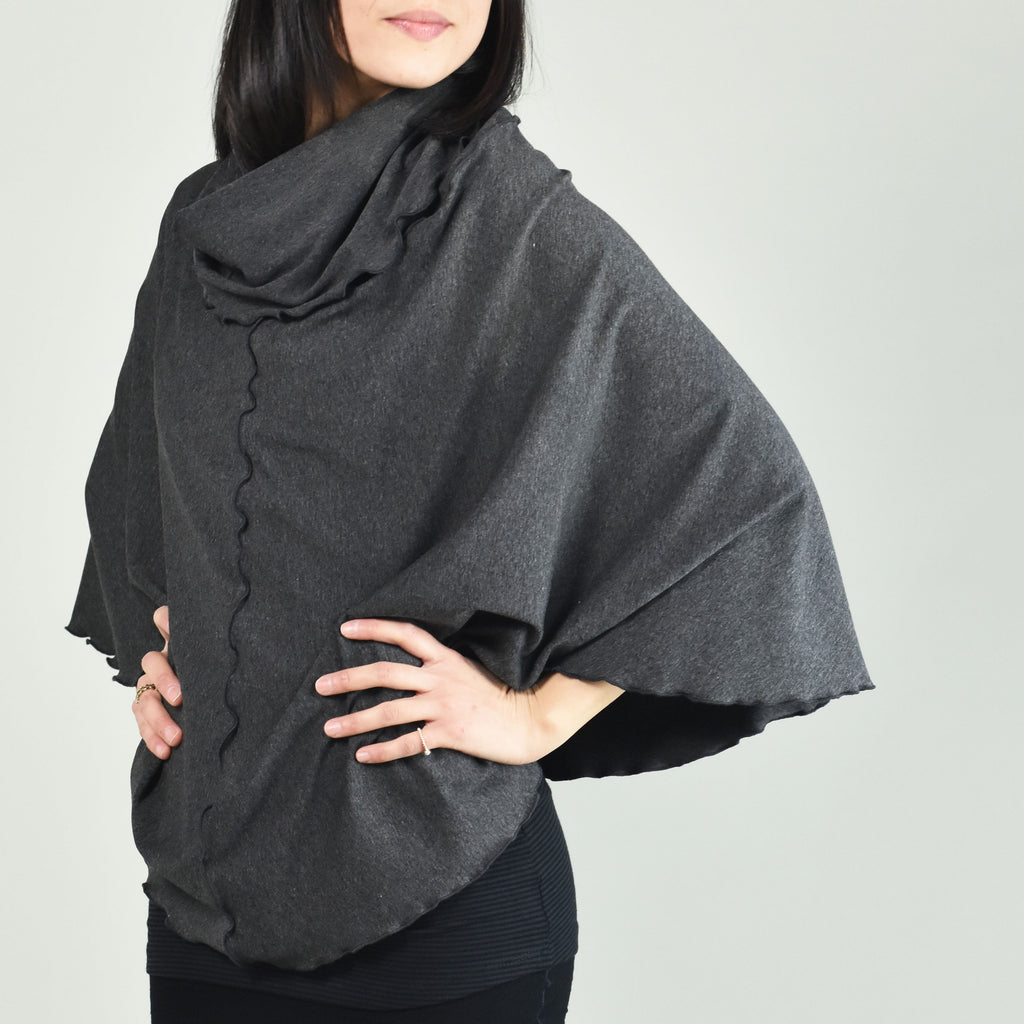 charcoal flirt as a poncho