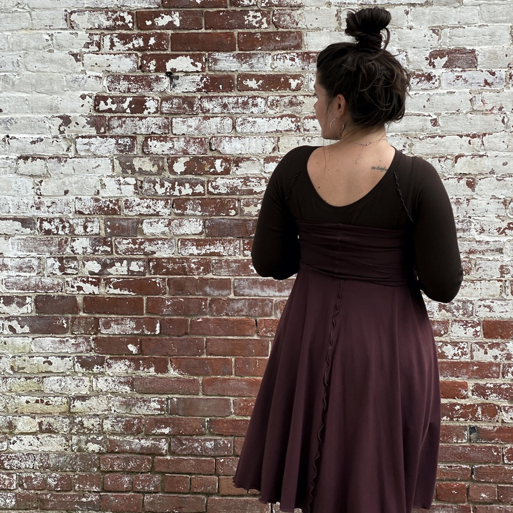 wine lady flirt as a dress + peat swing tunic top