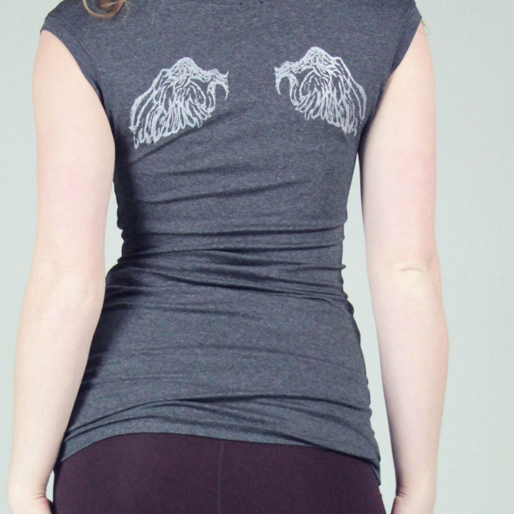 wing cap t in charcoal