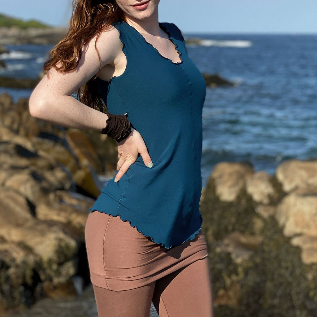 lagoon shell tank with our cedar playsuit and peat band