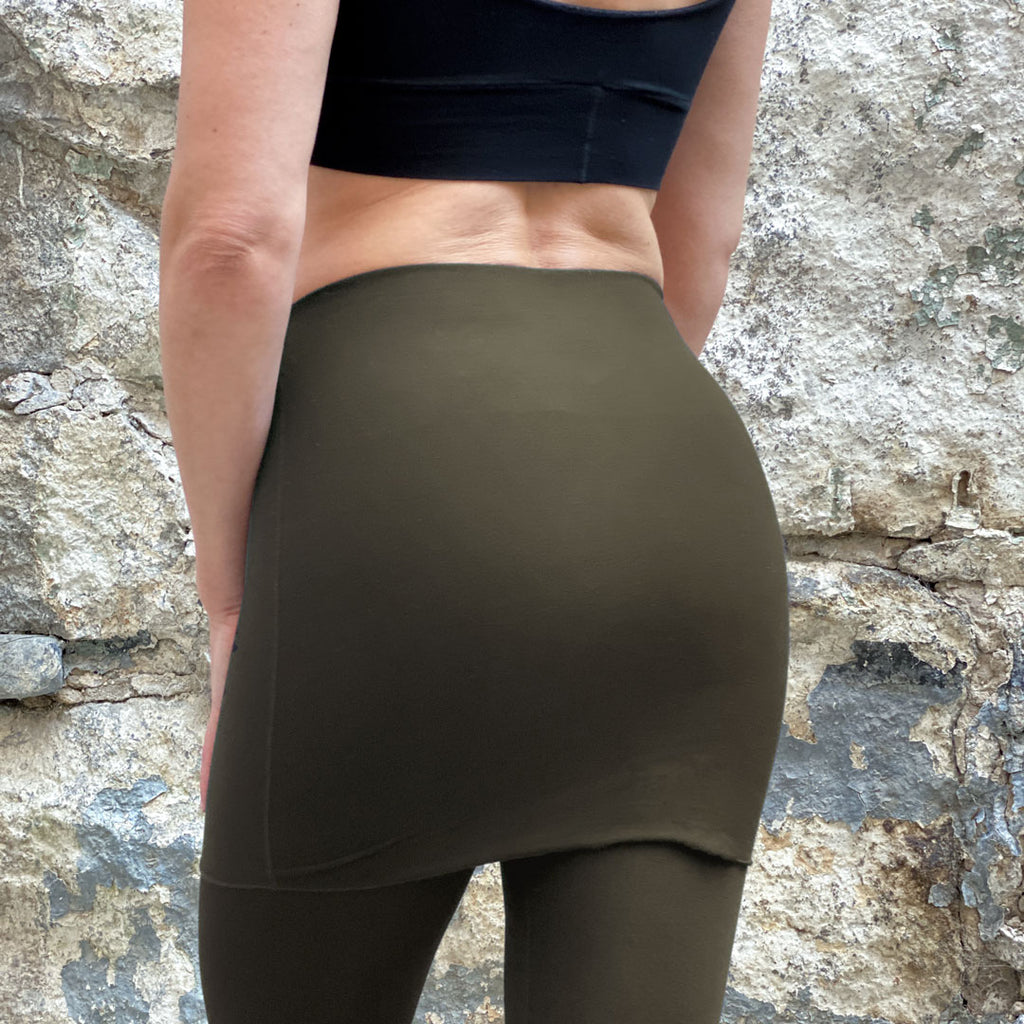 climber convertible legging in olive