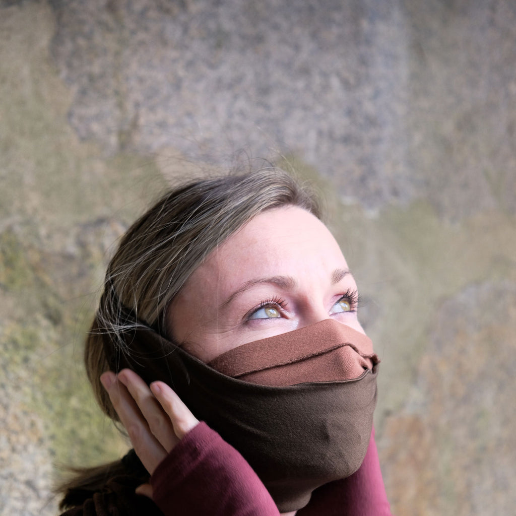 layered bands as face cover feels extra secure