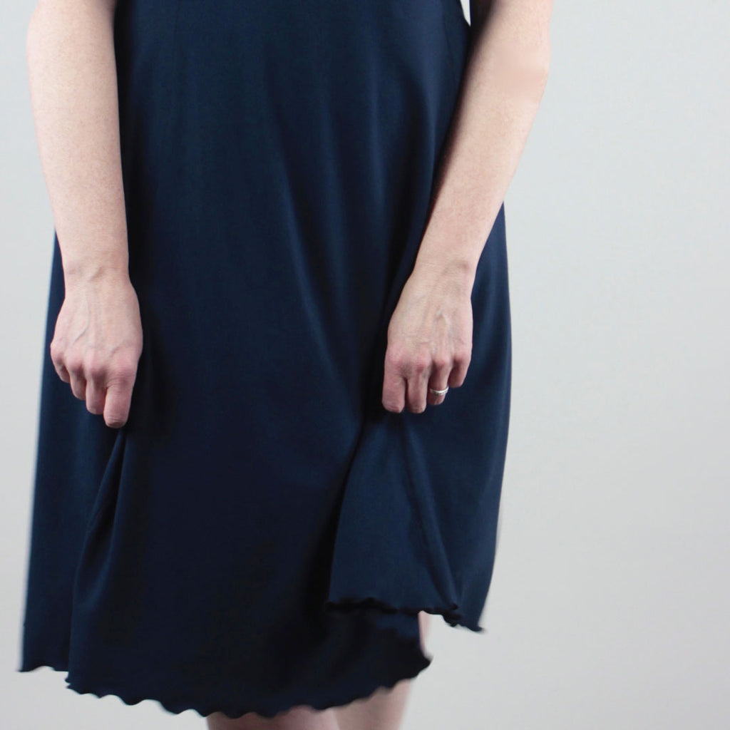 navy lady glow bamboo dress