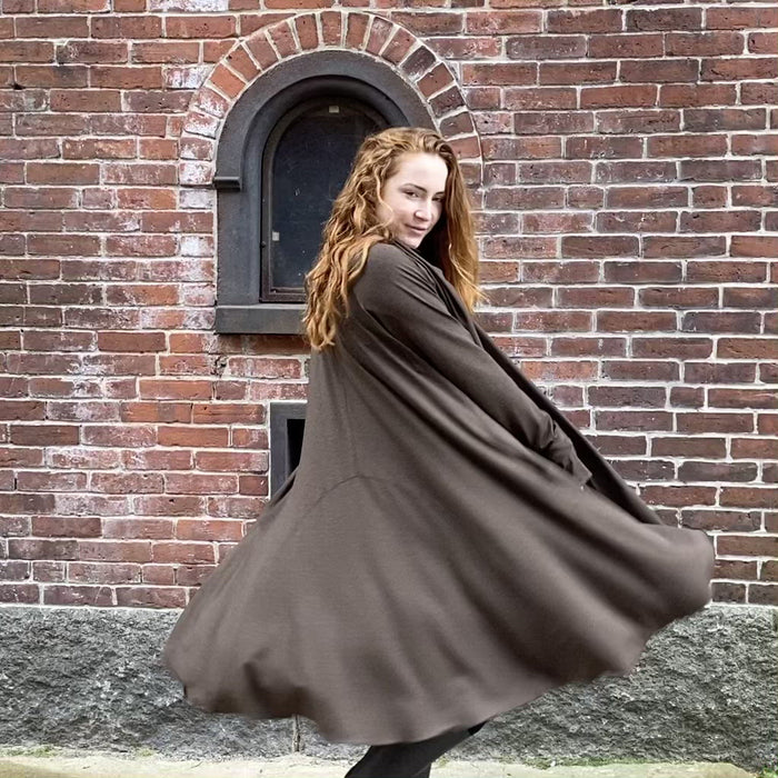 bamboo moves with you - riding coat in espresso