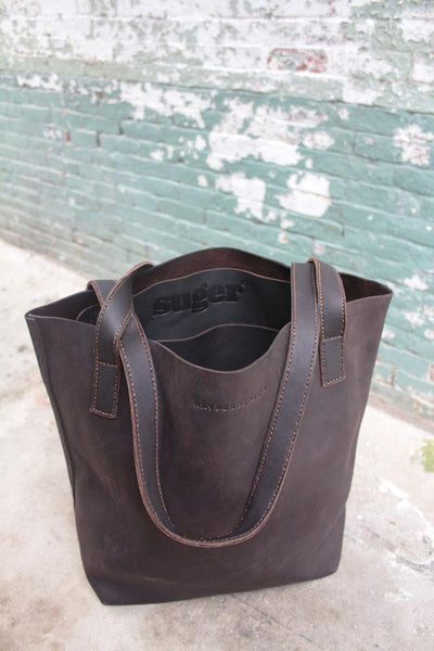 suger® luxe leather tote