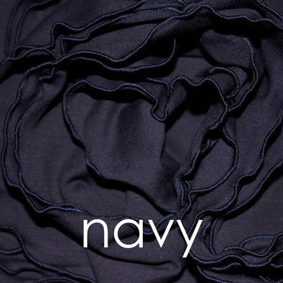 the color navy is a gorgeous dark blue and is one of our bamboo fabrics