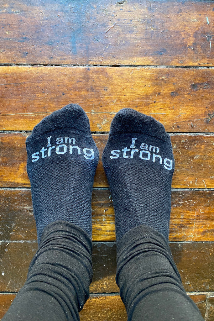 I am strong cozy cotton socks