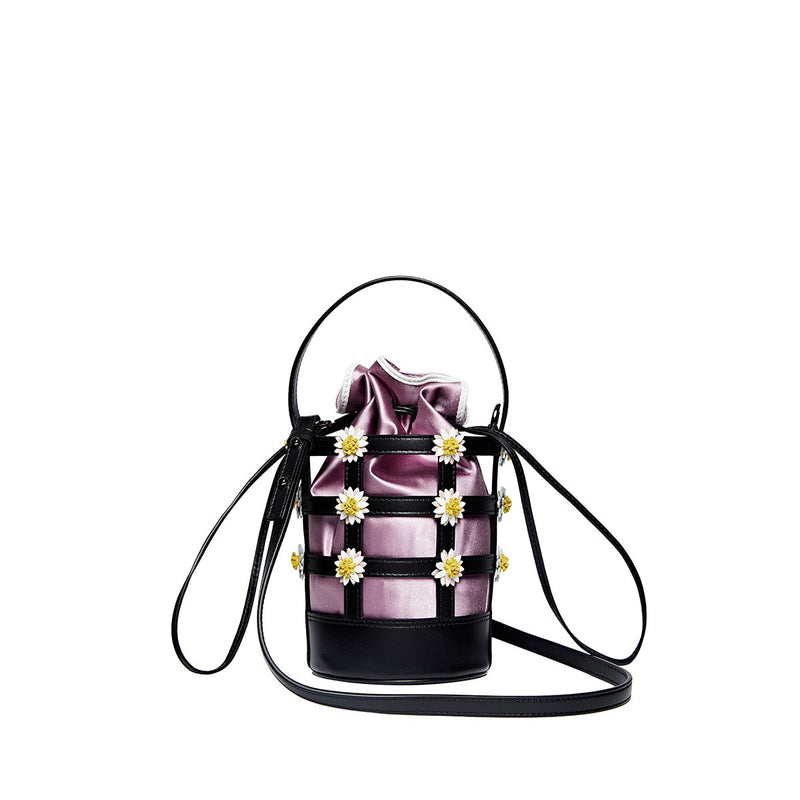 Miss Daisy Bucket Bag with Satin Pouch - Lilac