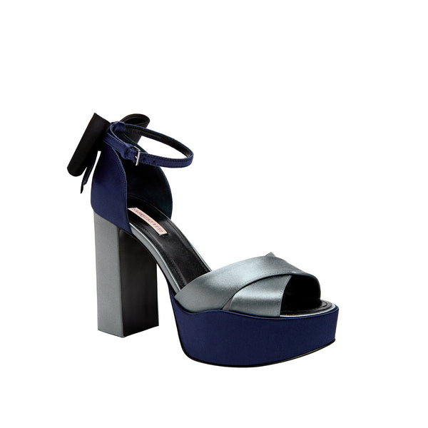 Nina Platform - Navy/Soft Blue