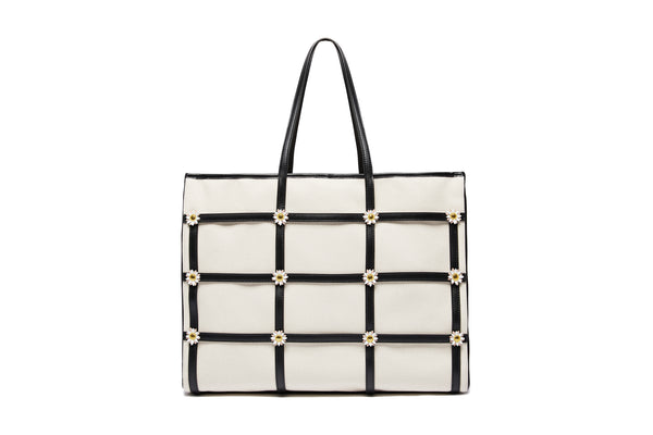 Miss Daisy Tote Bag - Black