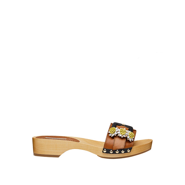 Jean Daisy Mini Mule - Natural