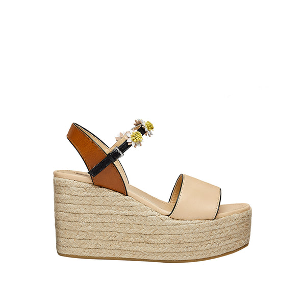 Margarita Wedge - Beige