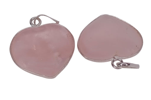 Rose Quartz Heart Pendant - BrahmatellsStore