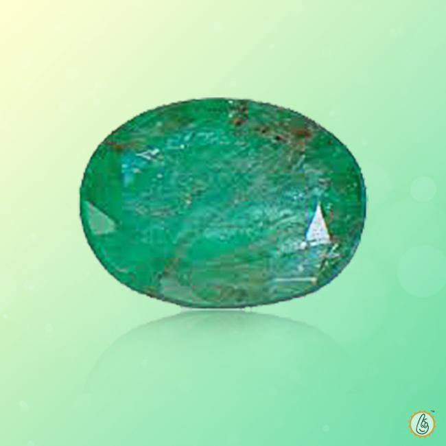 Emerald oval-intense bluish-green BTE108GSM