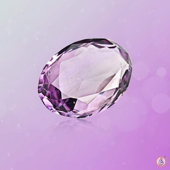 Amethyst Kathaila light-oval BTE113GSM