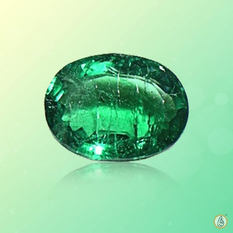 Emerald oval-strong yellow-green BTE115GSM