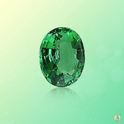 Emerald oval-strong yellowish-green BTE116GSM