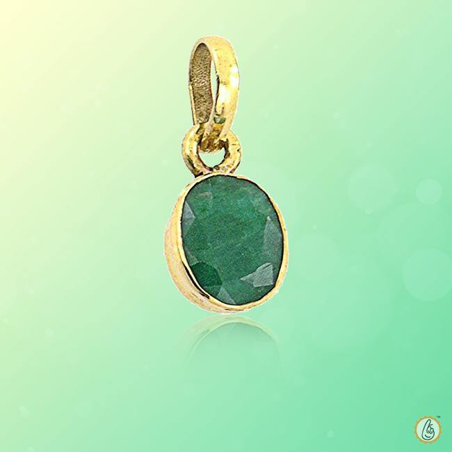 Emerald oval-natural-green-pendant BTE117PSM